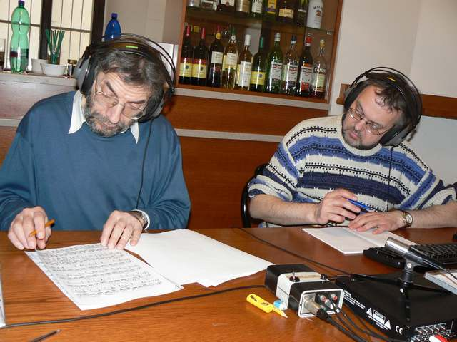 Director Igor Tausinger and Sound engineer Dr. Ales Dvořák